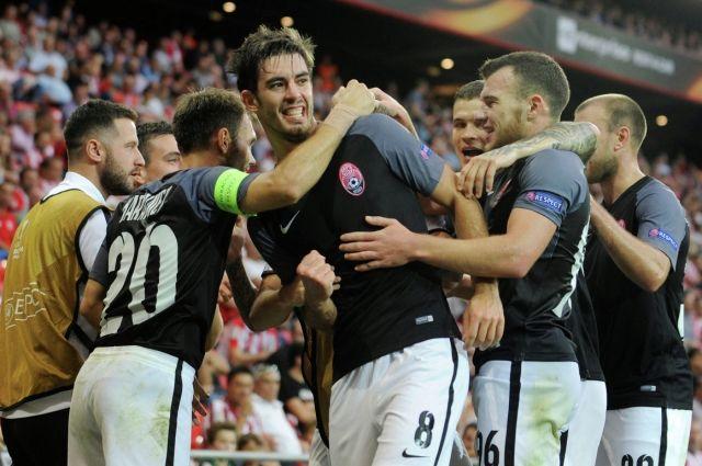 «Заря» уступает «Атлетику»— Лига Европы