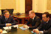 Бурков встретился с гендиректором «МРСК Сибири» Виталием Ивановым.