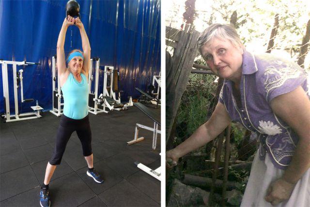 Справа - до тренировок, слева - результат после.
