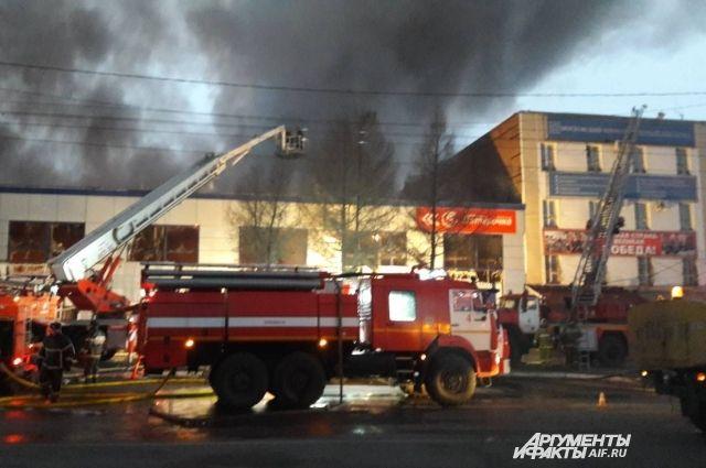 ВОренбурге возбудили дело после пожара в коммерческом центре