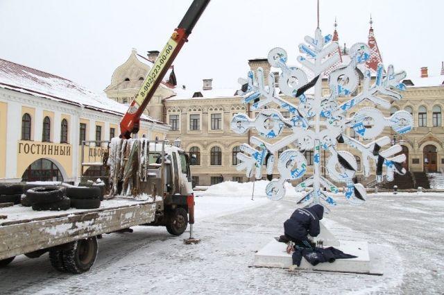 Наибольшая в РФ поющая снежинка появилась вРыбинске