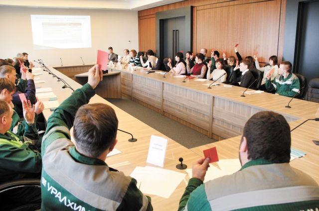 За новый колдоговор все 50 делегатов конференции проголосовали единогласно.