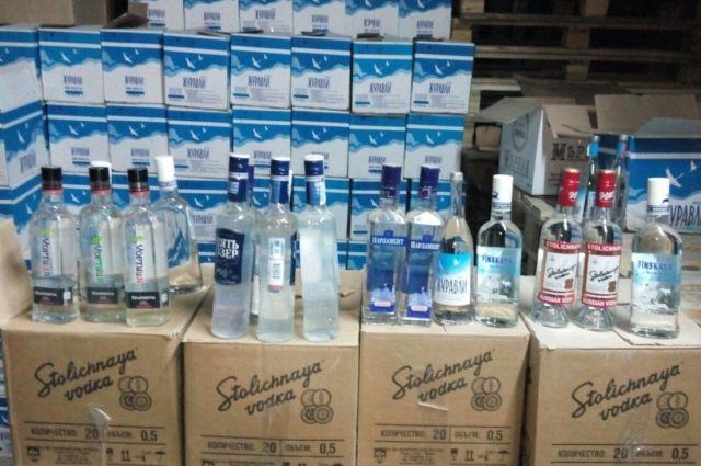 ВКанске найден очередной цех порозливу контрафактного алкоголя