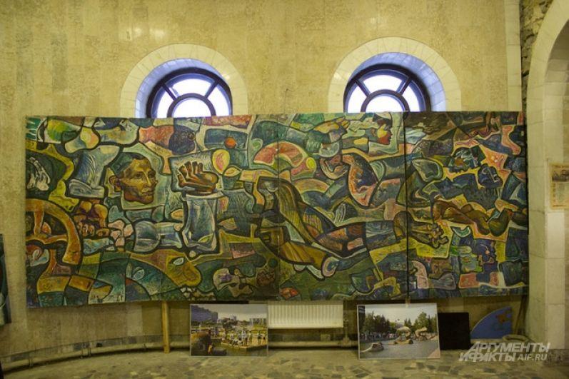 Картину Ильдара Ханова «Мир Тукая» во время пожара опалило огнём по периметру.