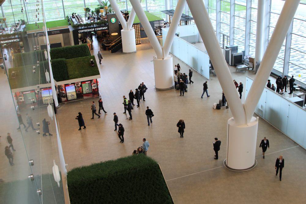 Первый этаж комплекса.