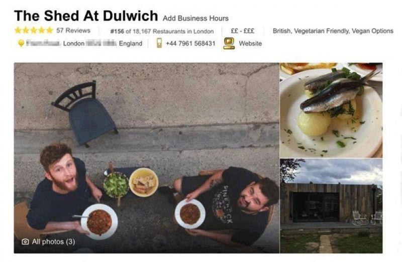 Страничка ресторана на TripAdvisor появилась в апреле 2017 года. Убо разместил фотографии и подписал, что заведение работает только по предварительному бронированию.