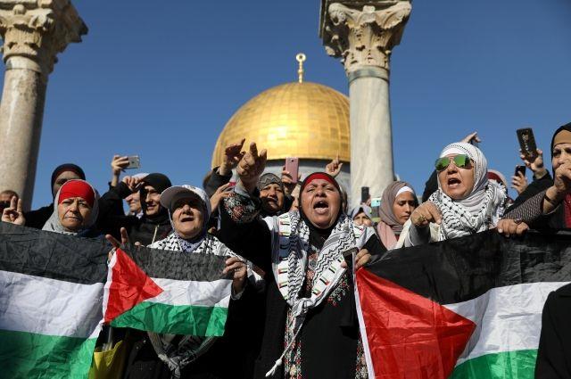 Около Дамасских ворот Иерусалима проходит акция протеста