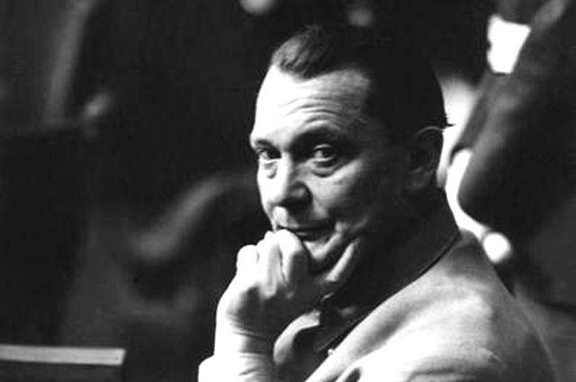 Подсудимый Геринг на международном военном трибунале по делу военных преступников в Нюрнберге. 20 ноября 1945 г.