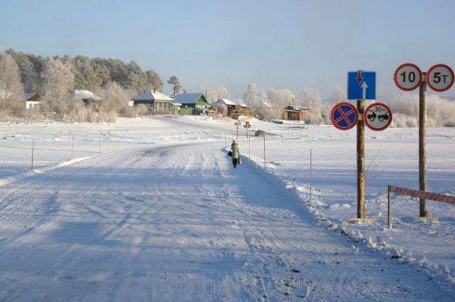 В Кемеровской области открылись первые ледовые переправы