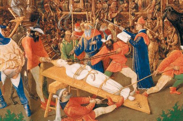 Жан Фуке, «Мученичество Св. Аполлонии». XV в.