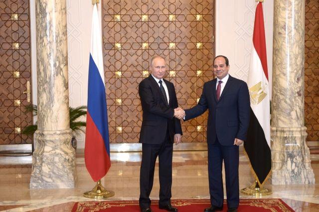 Владимир Путин прибыл вЕгипет для встречи сАбдель Фаттахом ас-Сиси