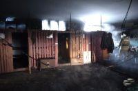 По предварительной версии, пожар произошёл из-за возгорания масла в отопительном котле.