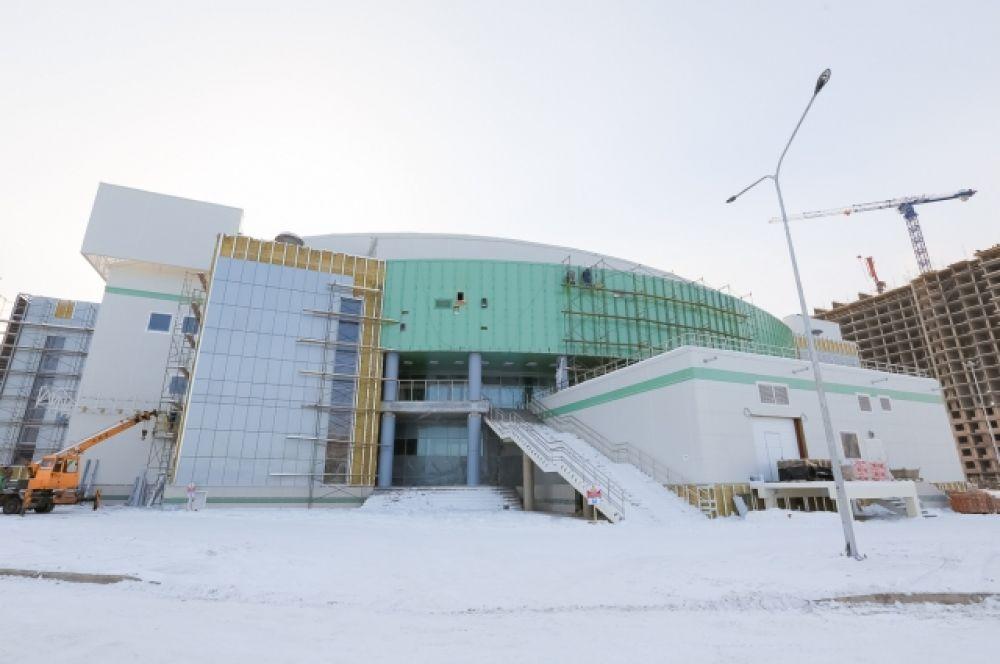 """Комплекс """"Платинум Арена Красноярск"""" подрядчик готов сдать ещё до Нового года."""