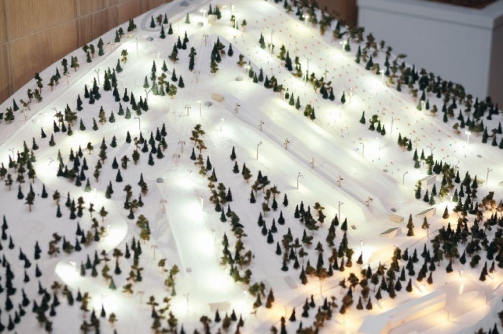 """Так будут выглядеть горнолыжные трассы """"Академии зимних видов спорта""""."""