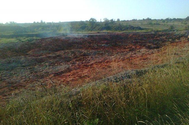 Возгоранием охвачена площадь в 13,5 тысячи квадратных метров - это почти два стандартных футбольных поля.