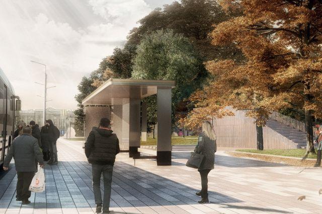 """Амфитеатр, согласно проекту, будет располагаться за остановкой """"Автовокзал"""", недалеко от площади Победы"""
