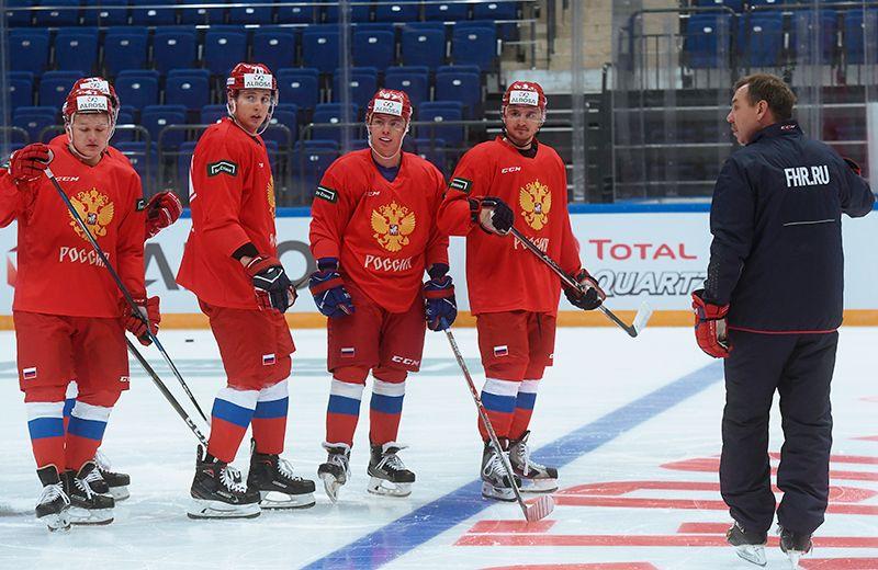 Хоккей: Мужская сборная России нацелена исключительно на победу, а задачей-минимум для нее является бронза.