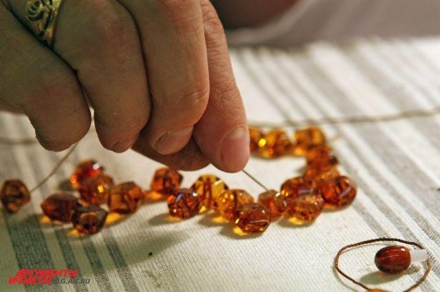 В Калининграде будут производить полуфабрикаты из янтаря для Китая.