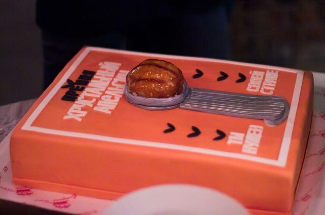 Участники конкурса смогли попробовать креативный торт.