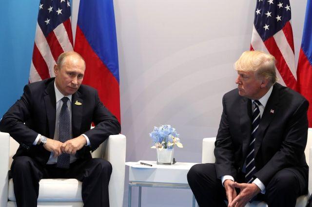 Президенты РФ иСША Владимир Путин иДональд Трамп провели телефонный разговор