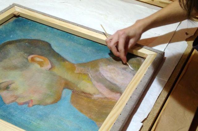 «Портрет мальчика» - одна из самых ранних работ Андрея Сашина.