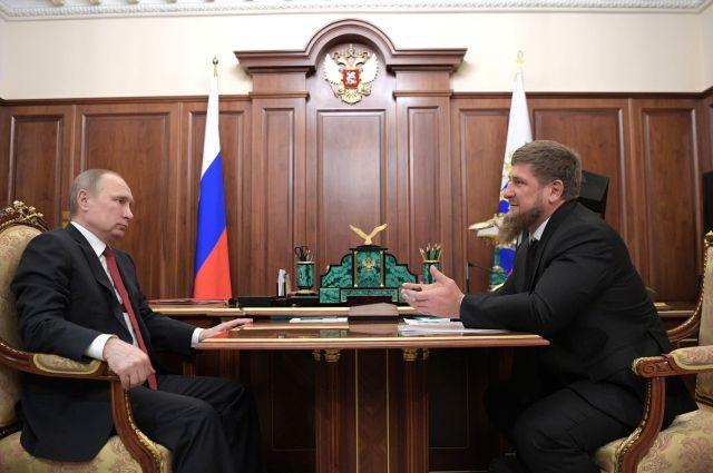 Оповестил оразвитии Чечни: Кадыров поведал овстрече сПутиным