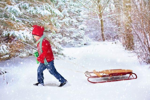 В Омске работают катки, прокат лыж и санок.
