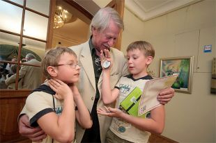 Иван Краско с сыновьями. 2013 г.
