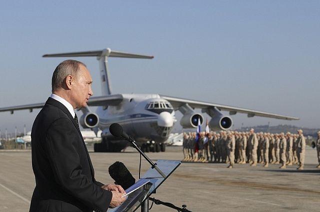 Военным, следившим за безопасностью Путина в Сирии, объявили благодарность