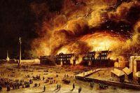 Зарево полыхало так ярко, что его видели путники за 50-70 вёрст от столицы.