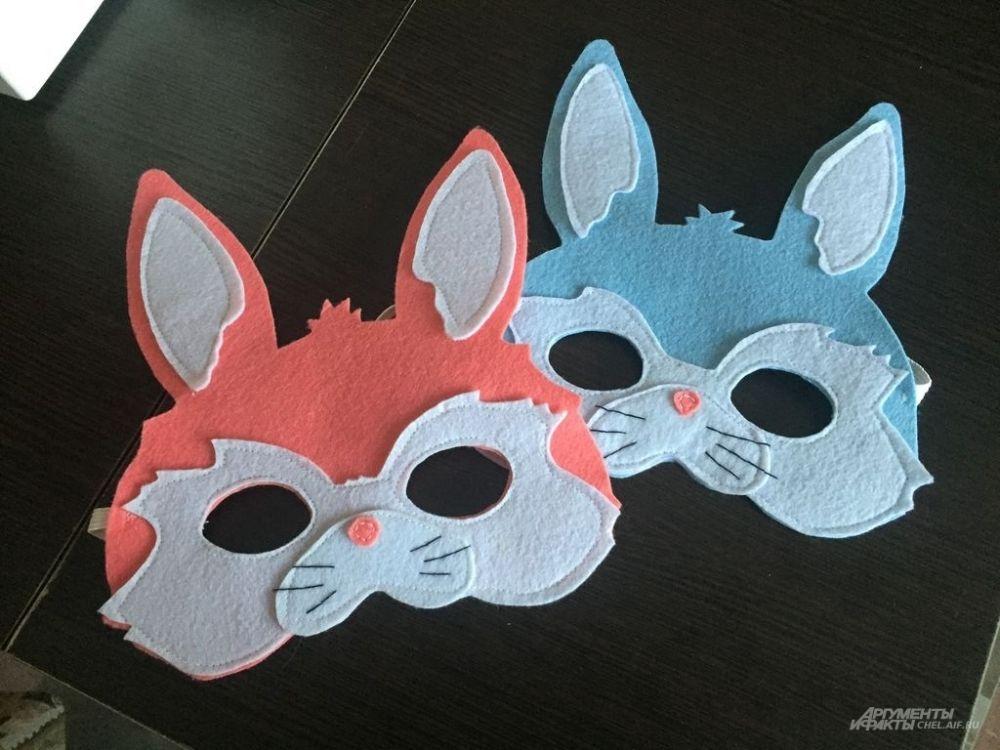 Будем делать маску зайчика. Можно выбрать натуральный серый или белый цвет или подобрать более яркое решение.