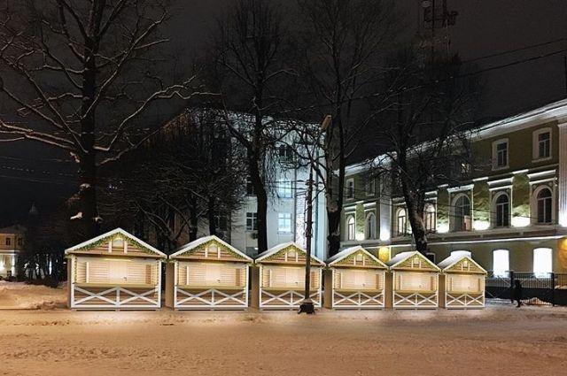 ВСмоленске закупили рождественские домики