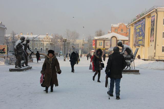 Морозный Иркутск.