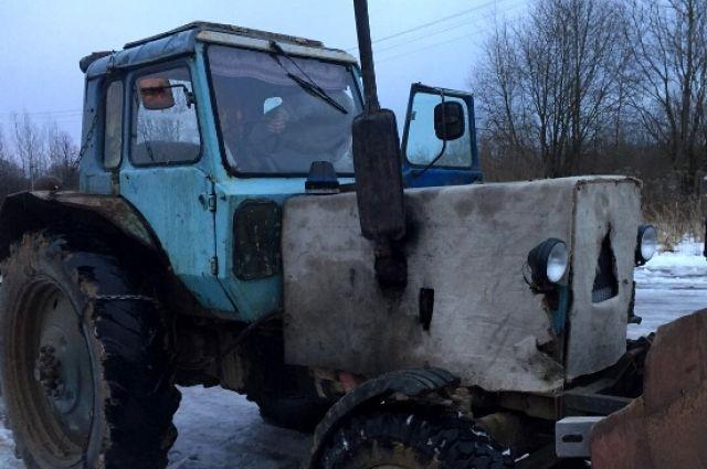 Подозреваемый вугоне трактора схвачен вТемкинском районе