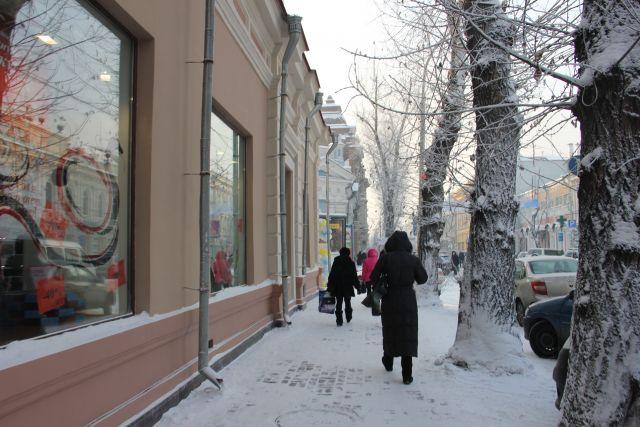 Зима в Иркутске.