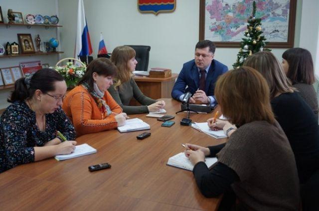 Глава Дзержинска Сергей Попов встретился с  представителям местных СМИ.
