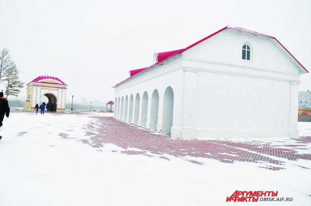 В Омской крепости будет работать несколько выставок.
