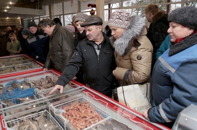 В порту Калининграда открылся первый социальный рыбный магазин.
