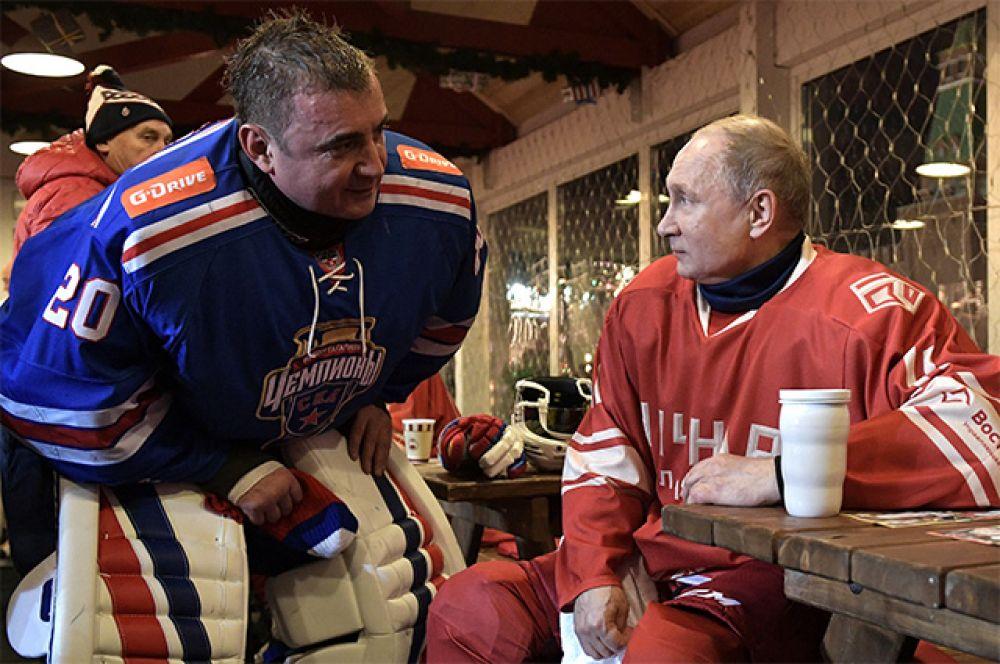 Губернатор Тульской области Алексей Дюмин и  Владимир Путин.