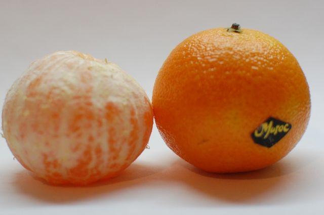 Самыми качественными оказались мандарины и водка.