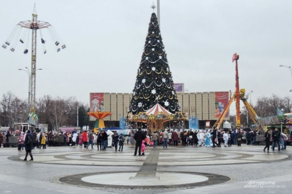 Главная елка Краснодара.