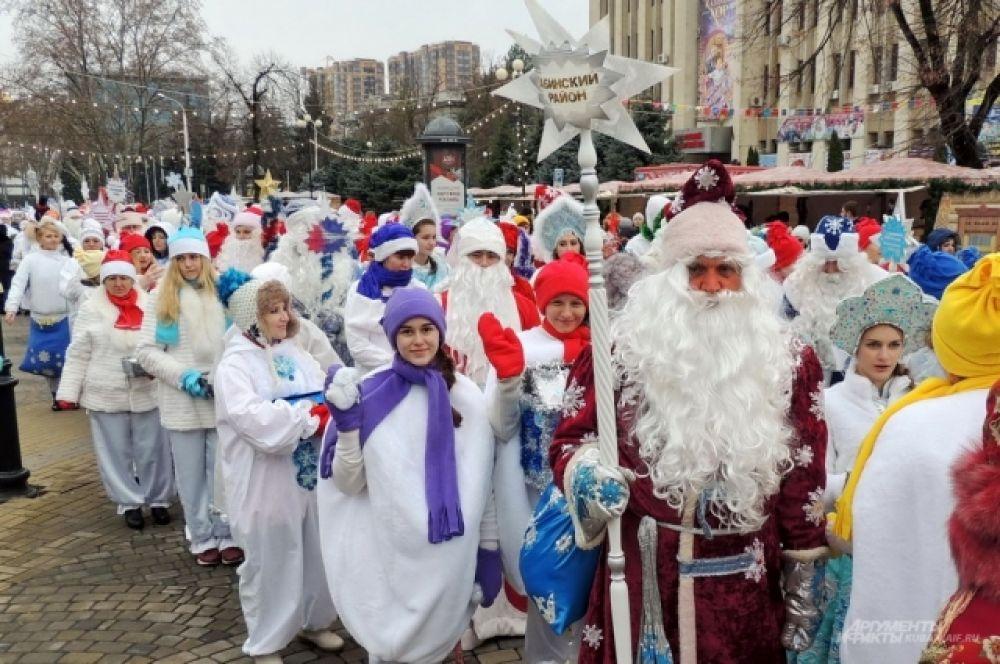 На парад приехали представители всех городов и районов Кубани.