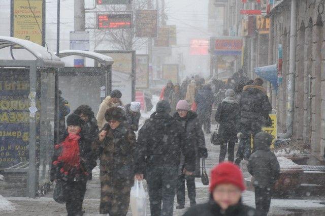 Снег будет идти в Омске до среды.