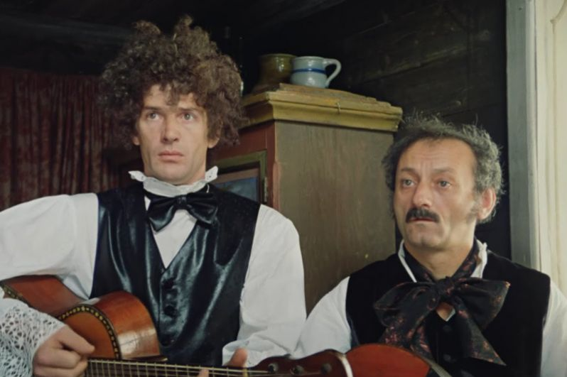 Подручный графа Калиостро Жакоб в «Формуле любви» (1984).