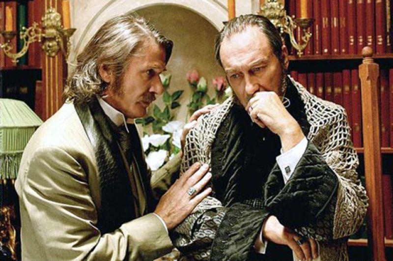 Александр Абдулов и Олег Янковский в фильме «Анна Каренина». Премьера состоялась уже после смерти актера.