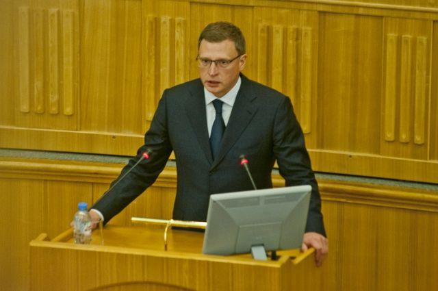 Александр Бурков выступил перед депутатами Заксобрания.