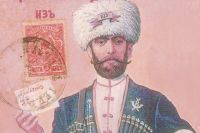 Такие открытки в Новому году выпускали в Кабардино-Балкарии до революции.