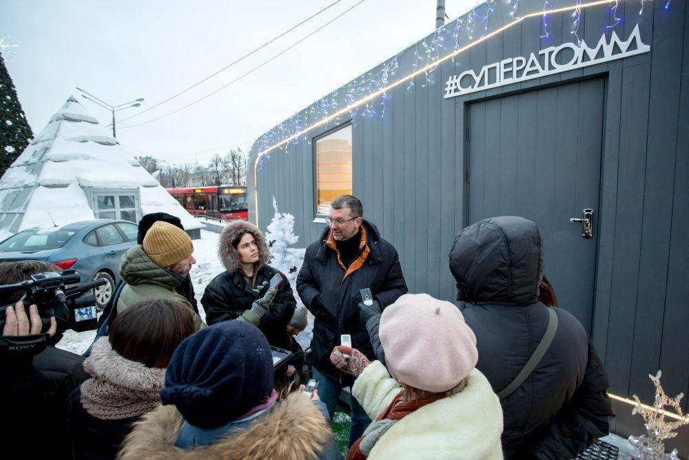 Первый в России автономный туристический обитаемый мобильный модуль (АТОММ) презентовали в Казани.