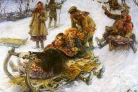 Катание на санях на Руси было одним из любимых развлечений.