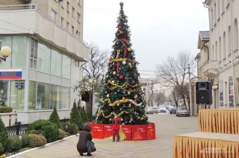 Ёлка возле Краснодарской филармонии им. Г.Ф. Пономаренко.